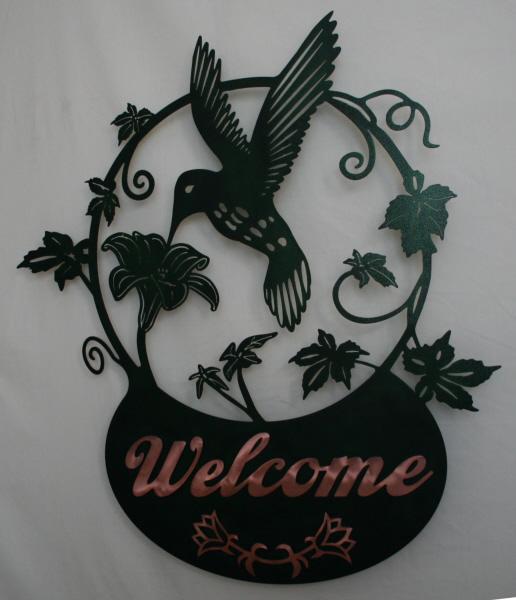CS Metal Art welcome sign