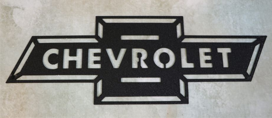 wall metal art, sign, chevrolet, chevy, angles, letters