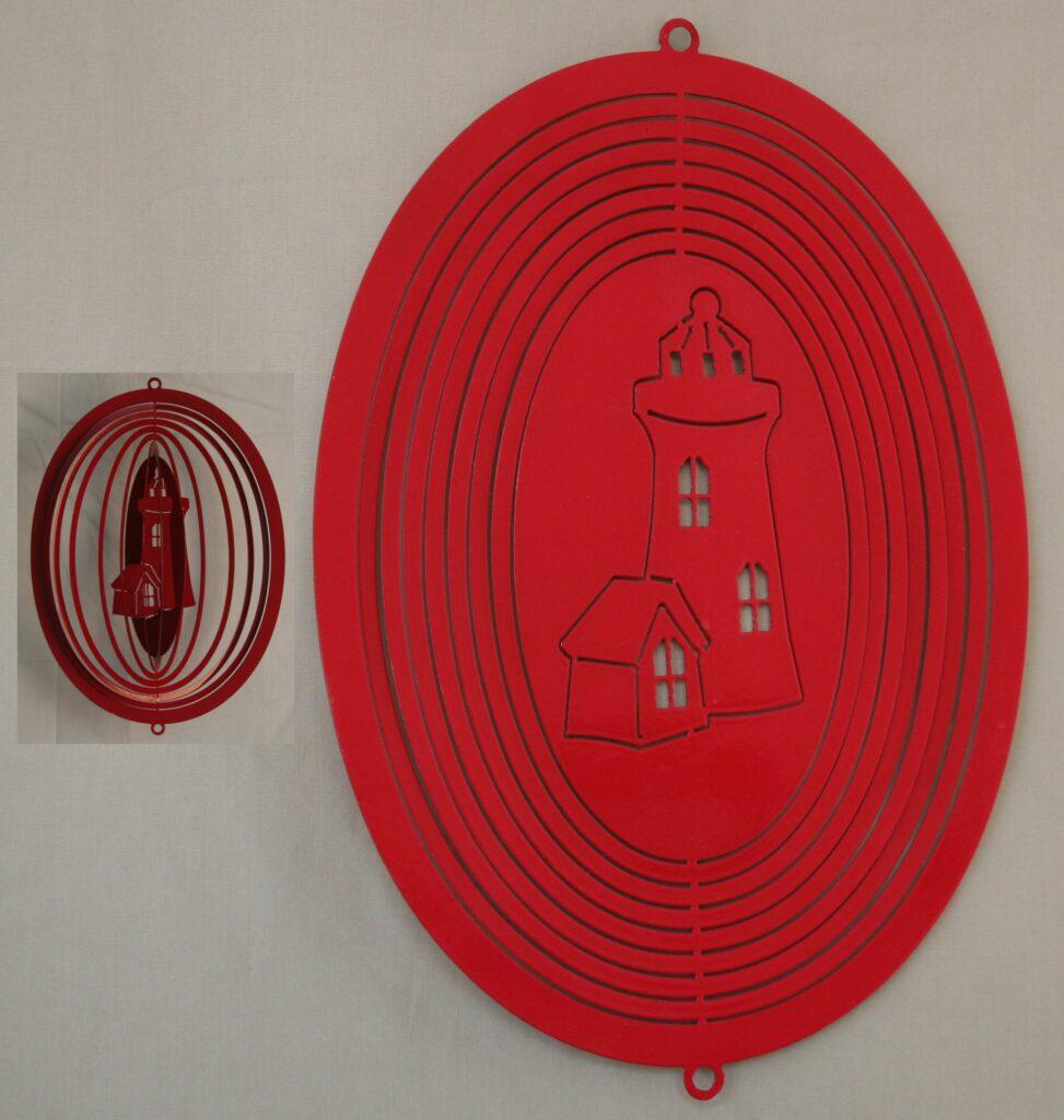 Metal Art, Lighthouse, Wind Spinner, Swivel, Hanging