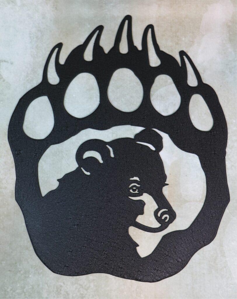 Wall Metal Art, Bear, Paw, Cub, Claws