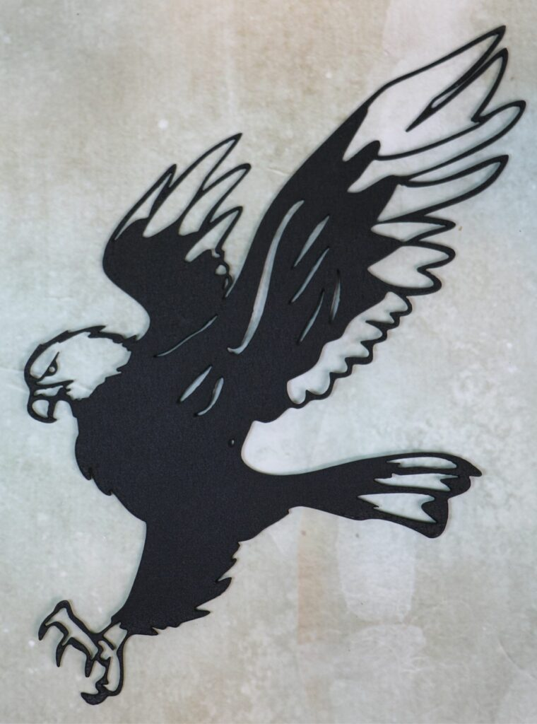 Wall Metal Art, Eagle, Talons, Wings, Flying, Feathers