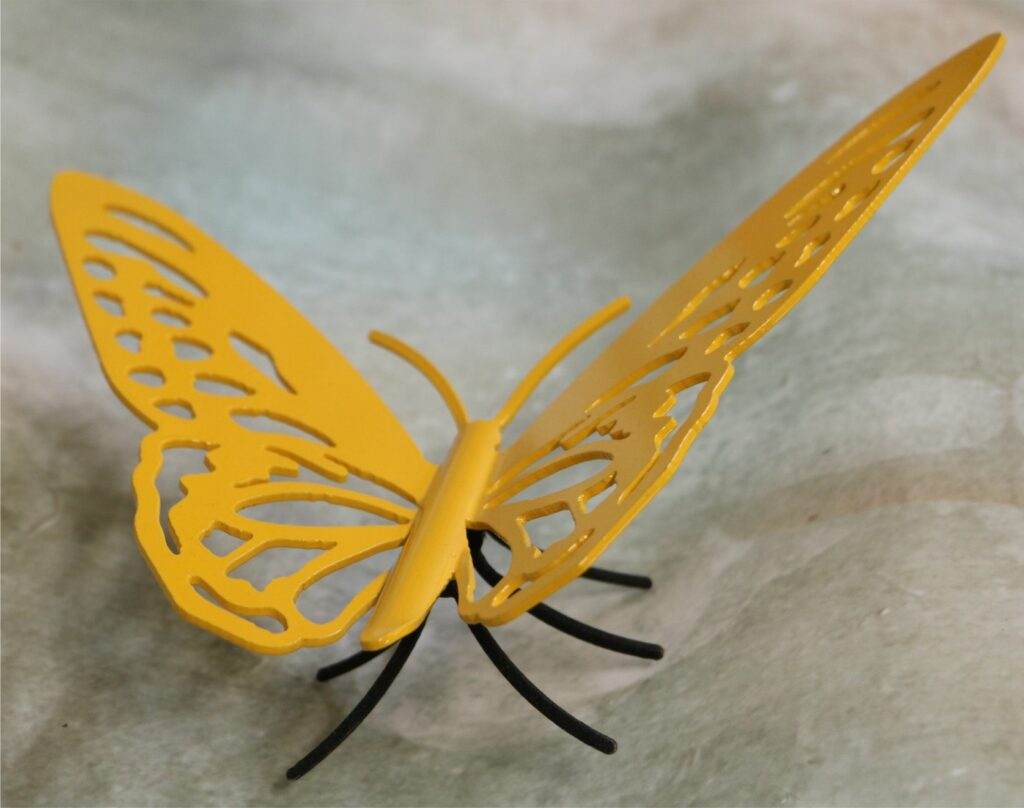 Freestanding Metal Art, Butterfly, Legs, Antenna, Wings