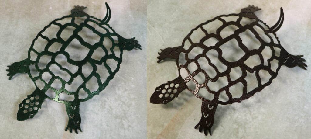 Freestanding Metal Art, Turtle, Tail, Eyes, Feet, Toes, Shell, Head