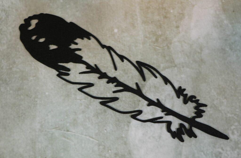 Wall Metal Art, Feather, Bird, Quill