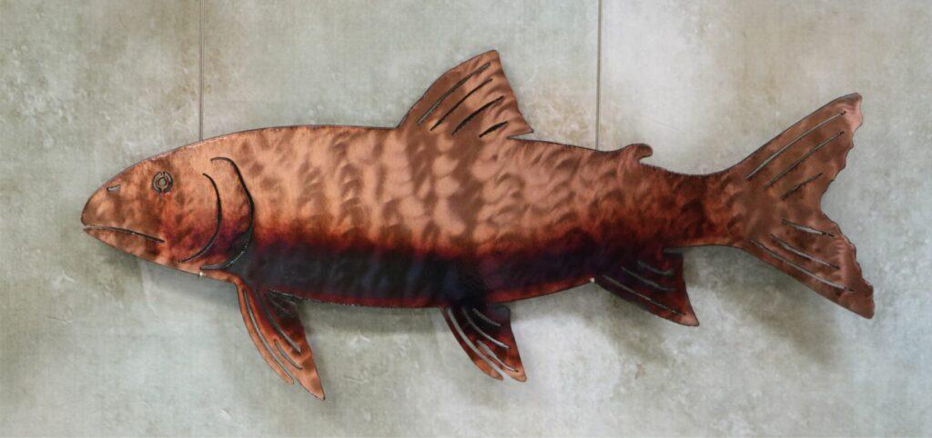 Wall Metal Art, Muskie, Sturgeon, Fish, Great Lakes, Lake Trout, Walleye, Copper