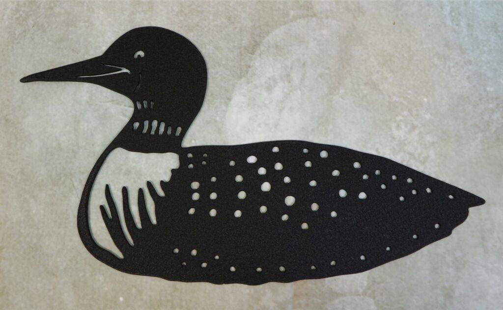 Wall Metal Art, Loon, Beak, Spots, Water, Lake, Pond