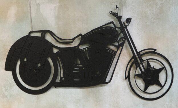 Wall Metal Art, Motorcycle, Mirror, Seat, Motor, Softail, Tires, Saddlebags, Harley, Fenders