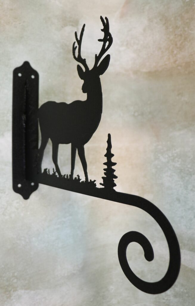 Wall Metal Art, Plant Hanger, Hook, Tree, Deer, Buck, Antlers