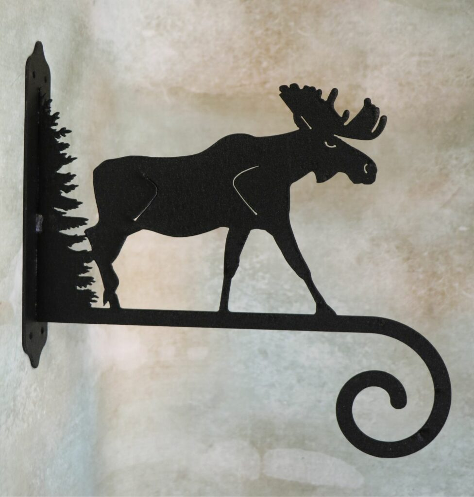 Wall Metal Art, Plant Hanger, Hook, Tree, Moose