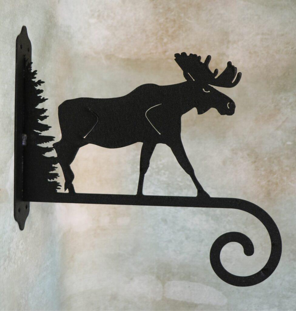 Wall Metal Art, Plant Hanger, Hook, Tree, Moose