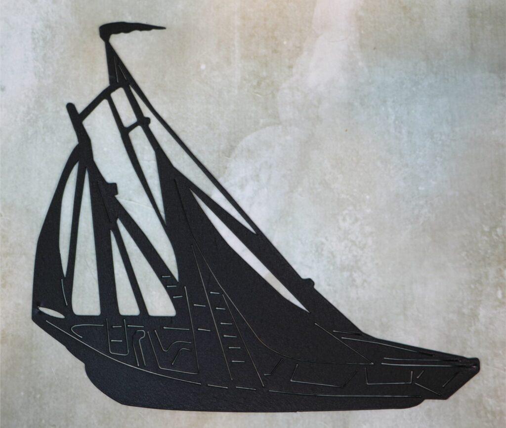 Wall Metal Art, Sailboat, Sails, Cabin, Wind, Sea, Ocean, Water, Lake