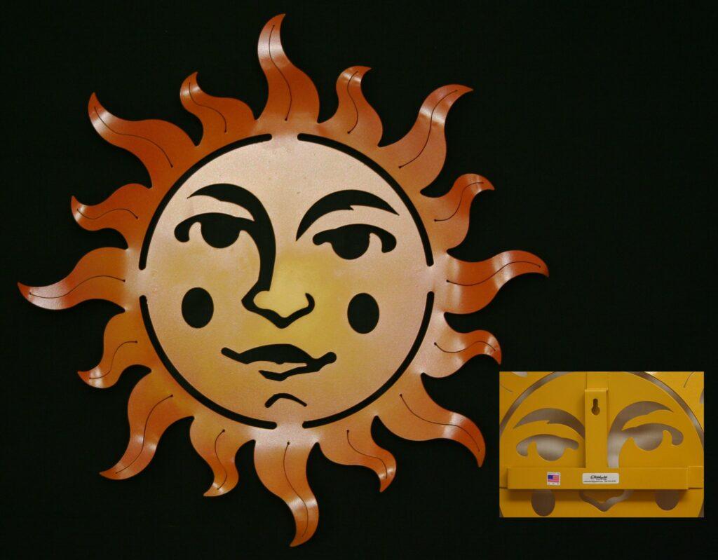 Wall Metal Art Aztec Sun Flares