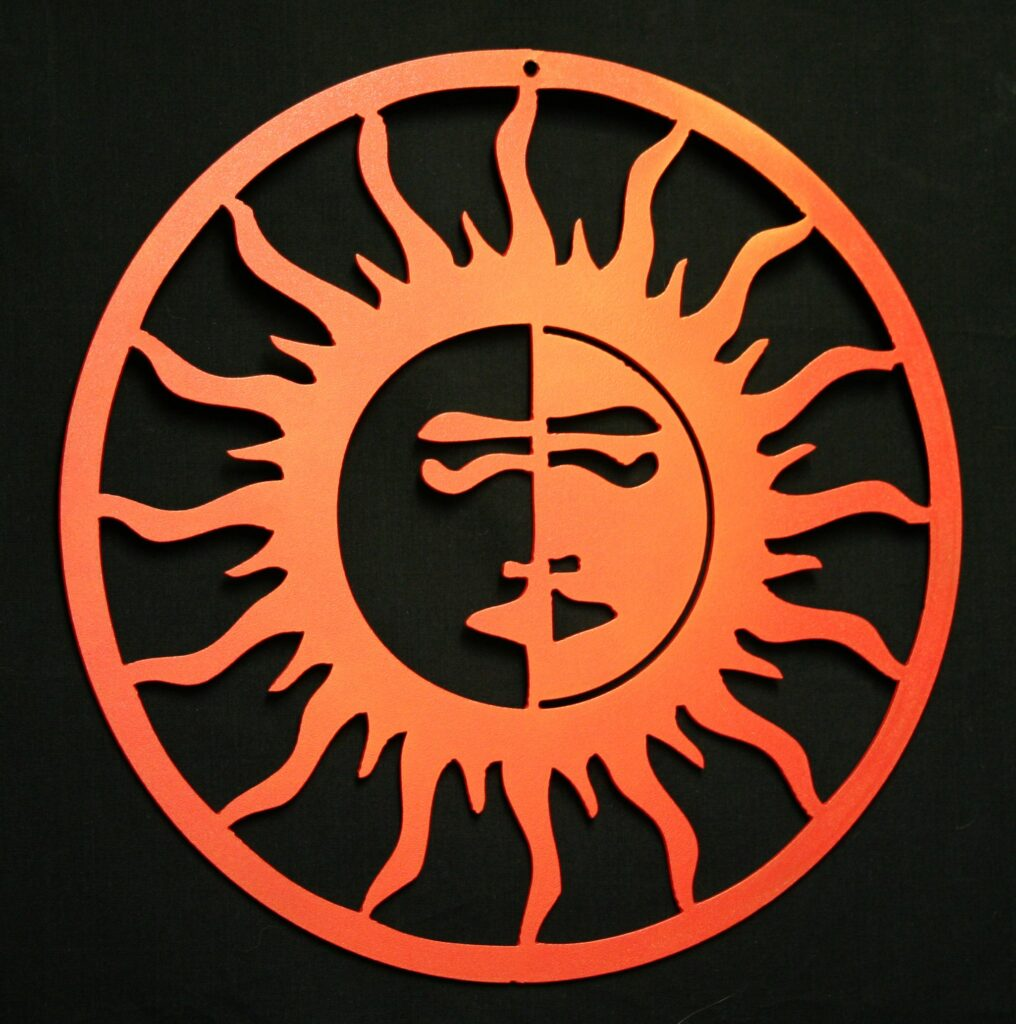 Wall Metal Art Aztec Sun