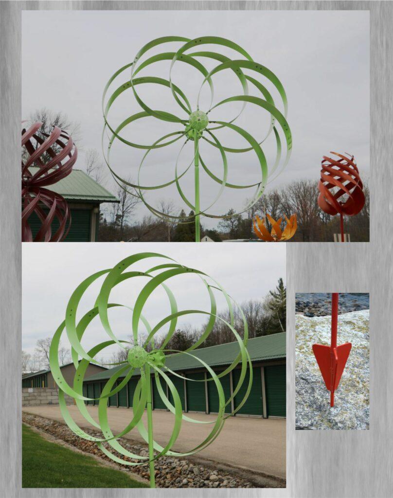 Metal Art, Wind Kinetic, Round, Enclosed